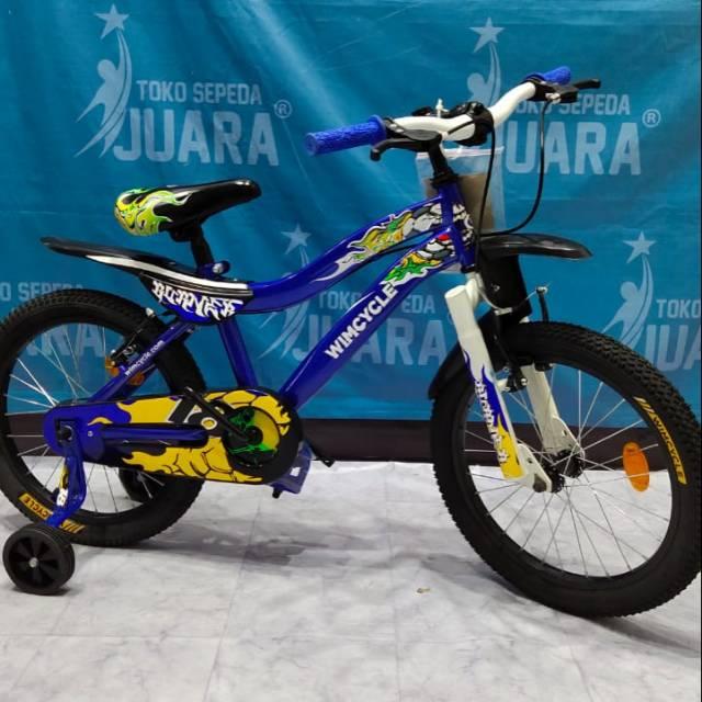 Sepeda Bmx Wimcycle Burner 16 Anak Usia 4 8 Tahun Shopee Indonesia