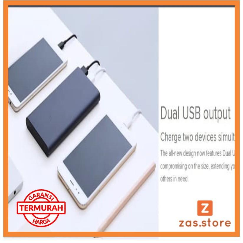 Powerbank Xiaomi Mi Pro 2i 10000mAh 2 USB FAST CHARGING PB Mi2i Mi 2i - Perak zs04