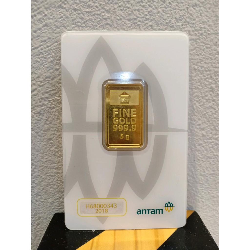Emas Batangan Logam Mulia Emas Mini Murni 24 Karat 1 Gram Sertifikat