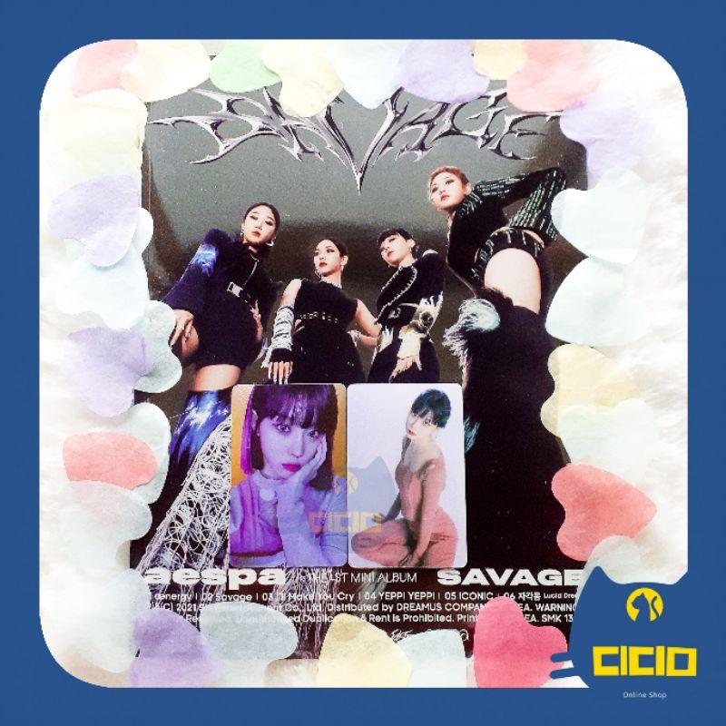 [READY STOCK] aespa • Savage Hallucination Quest Ver. Mini Album Fullset Unsealed Winter Set + Poster Winter Photocard PC Photobook ver æspa 에스파