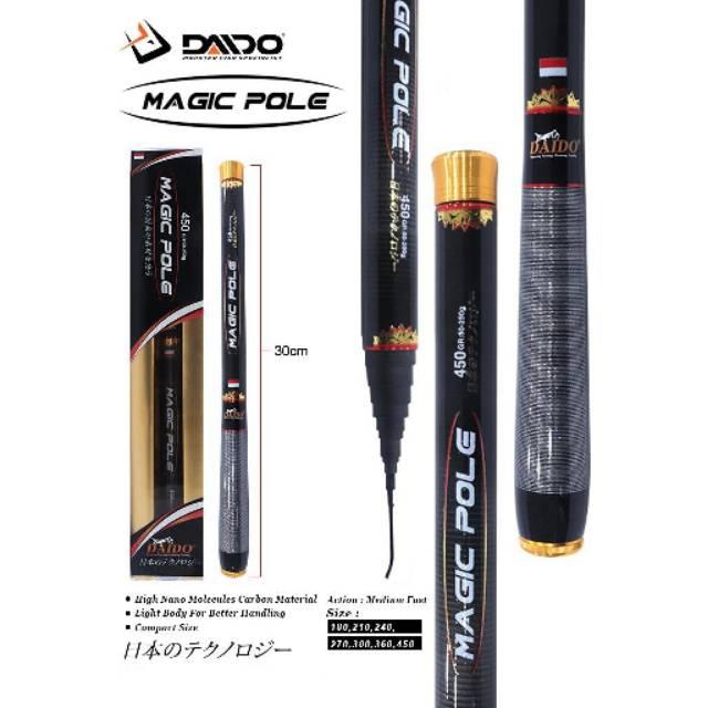 Joran Tegek Carbon Ruas Pendek Daido Magic Pole /Tegek Carbon Murah / Joran Carbon Murah