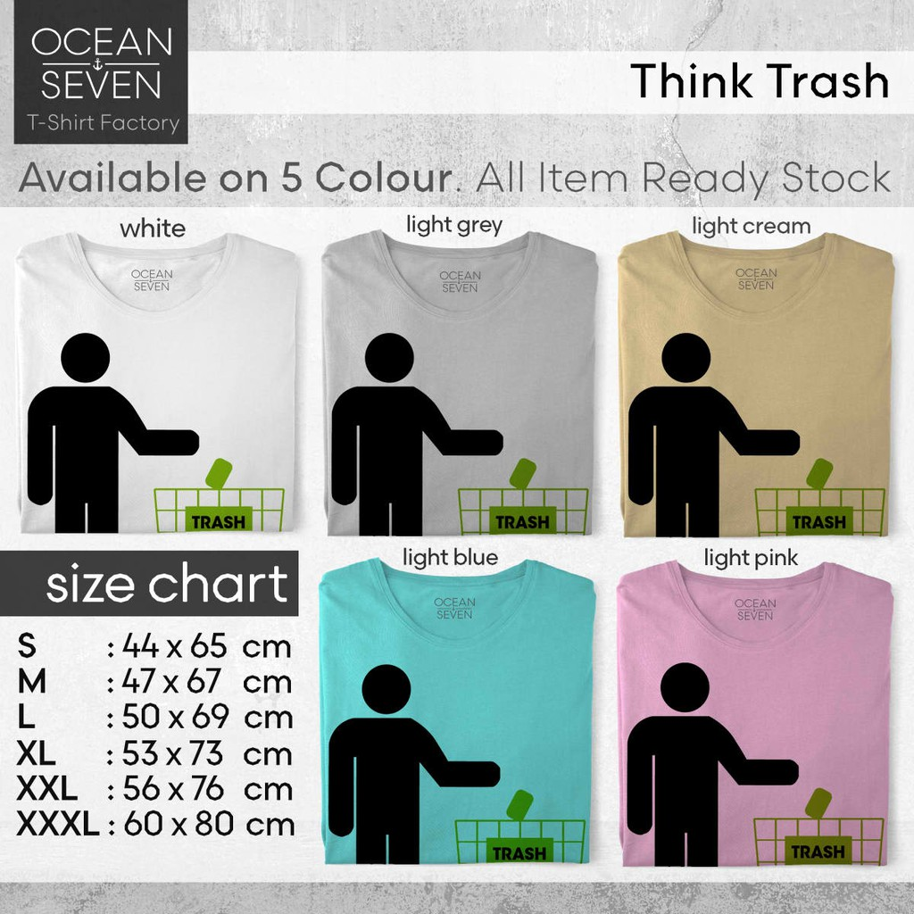 GARBAGE T-SHIRT sizes S M L XL XXL colours Black White