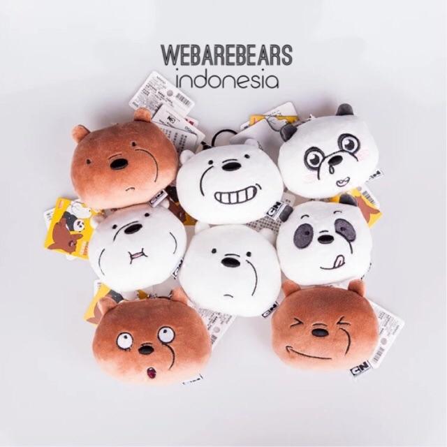 Boneka we bare bears grizz ice bear panpan teddy bear cartoon network miniso bantal anak | Shopee Indonesia