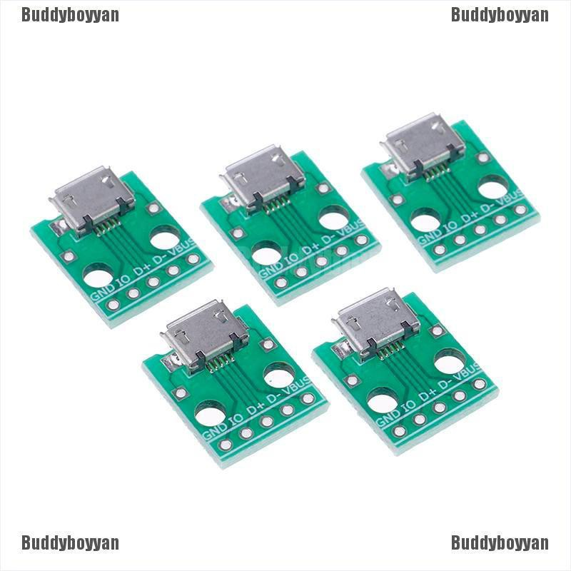 10 x MICRO USB to DIP Adapter 5pin Female Connector PCB Converter
