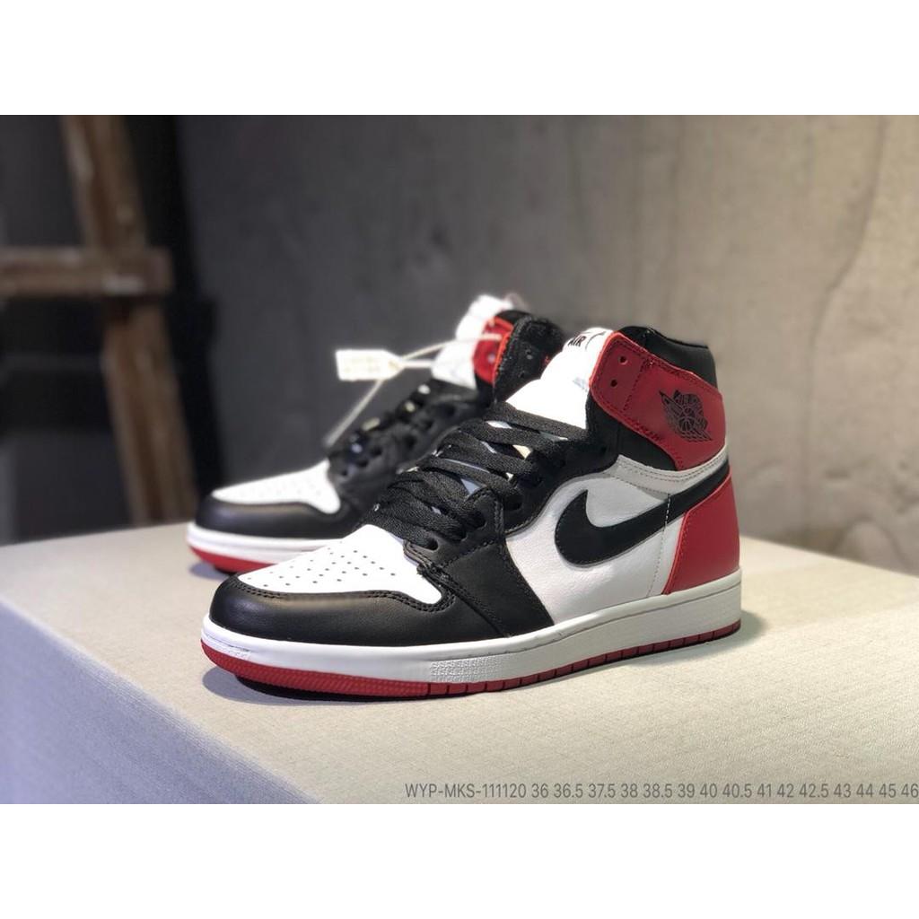 Sepatu Basket Model Nike Air Jordan High Top Ukuran 36-45 Warna Merah untuk  Pria  5b52032462