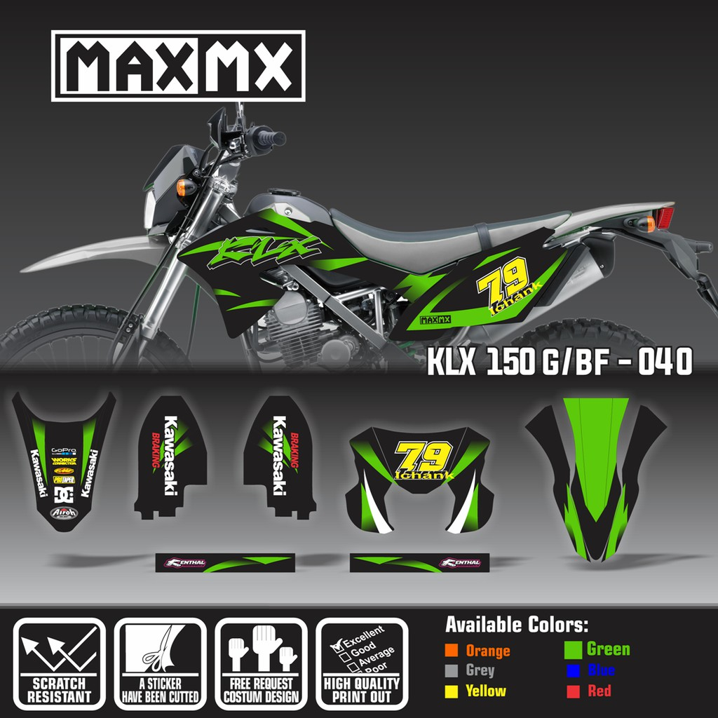 Decal klx 150 bf shopee indonesia