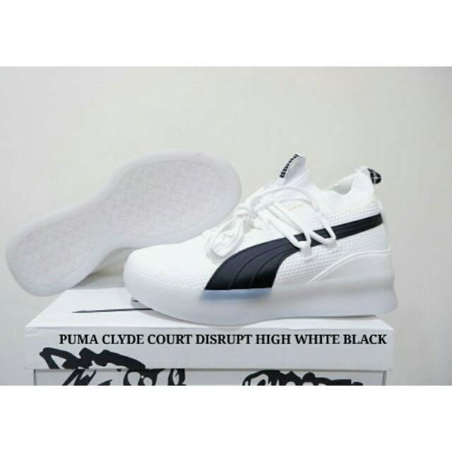 1f84266a3de PUMA CLYDE COURT DISRUPT LOW BLACK WHITE