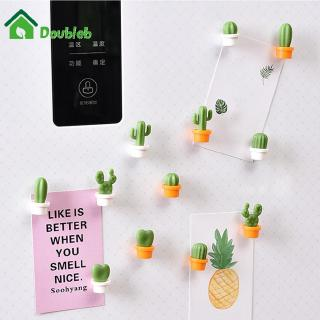6 Pcs Mini Kartun Kaktus Magnet Kulkas Stiker Tanaman Magnetik