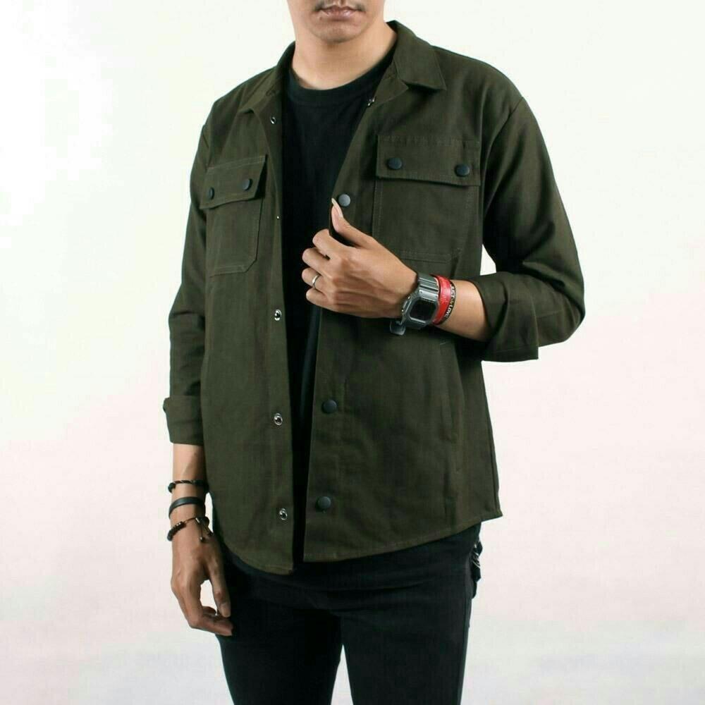 Jaket Semi Parka Kanvas Premium | Shopee Indonesia