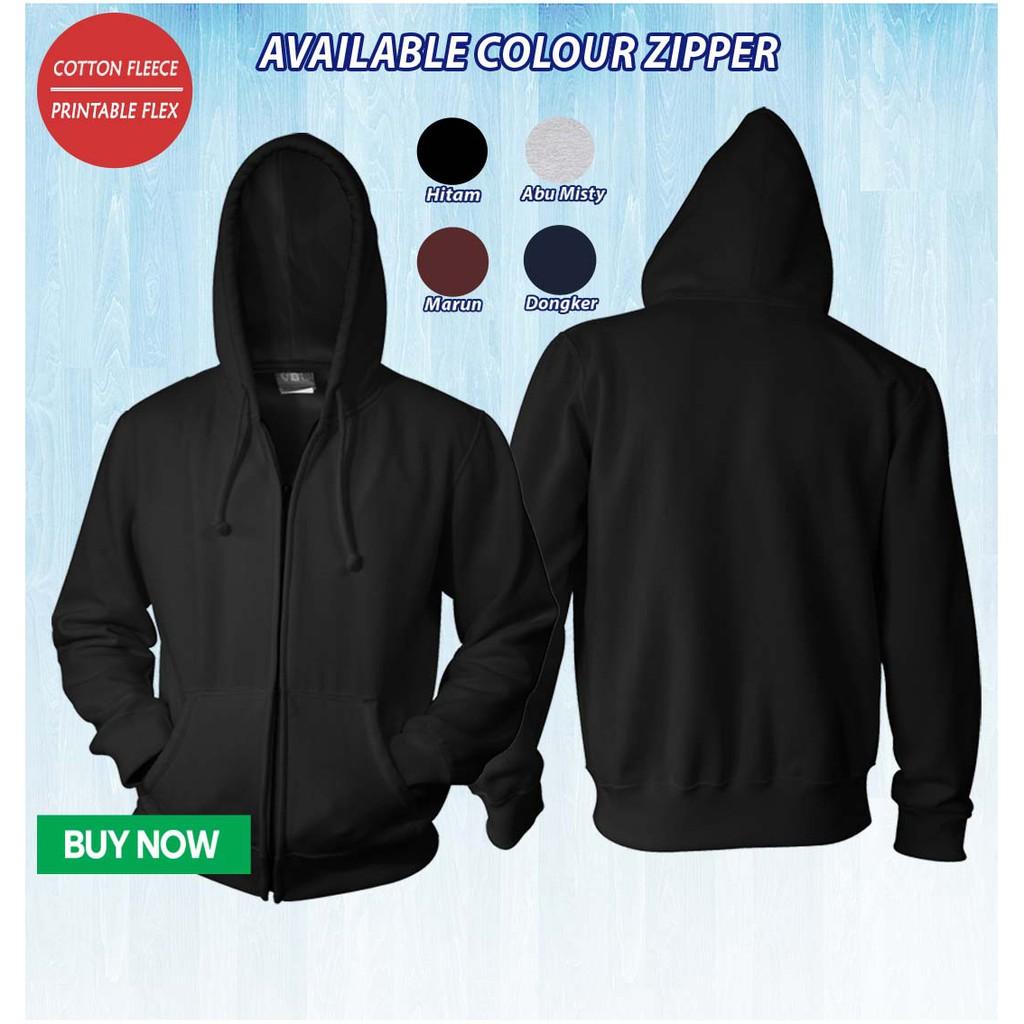 Jaket Hoodie Zipper Sablon Design Suka Suka Sablon Desain Custom Shopee Indonesia