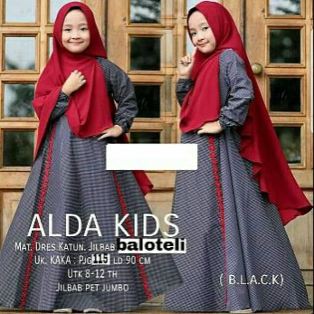 Dijual BAJUYULI Gamis Baju Muslim Anak Perempuan Jersey Peach Mint MJS01 Murah | Shopee Indonesia
