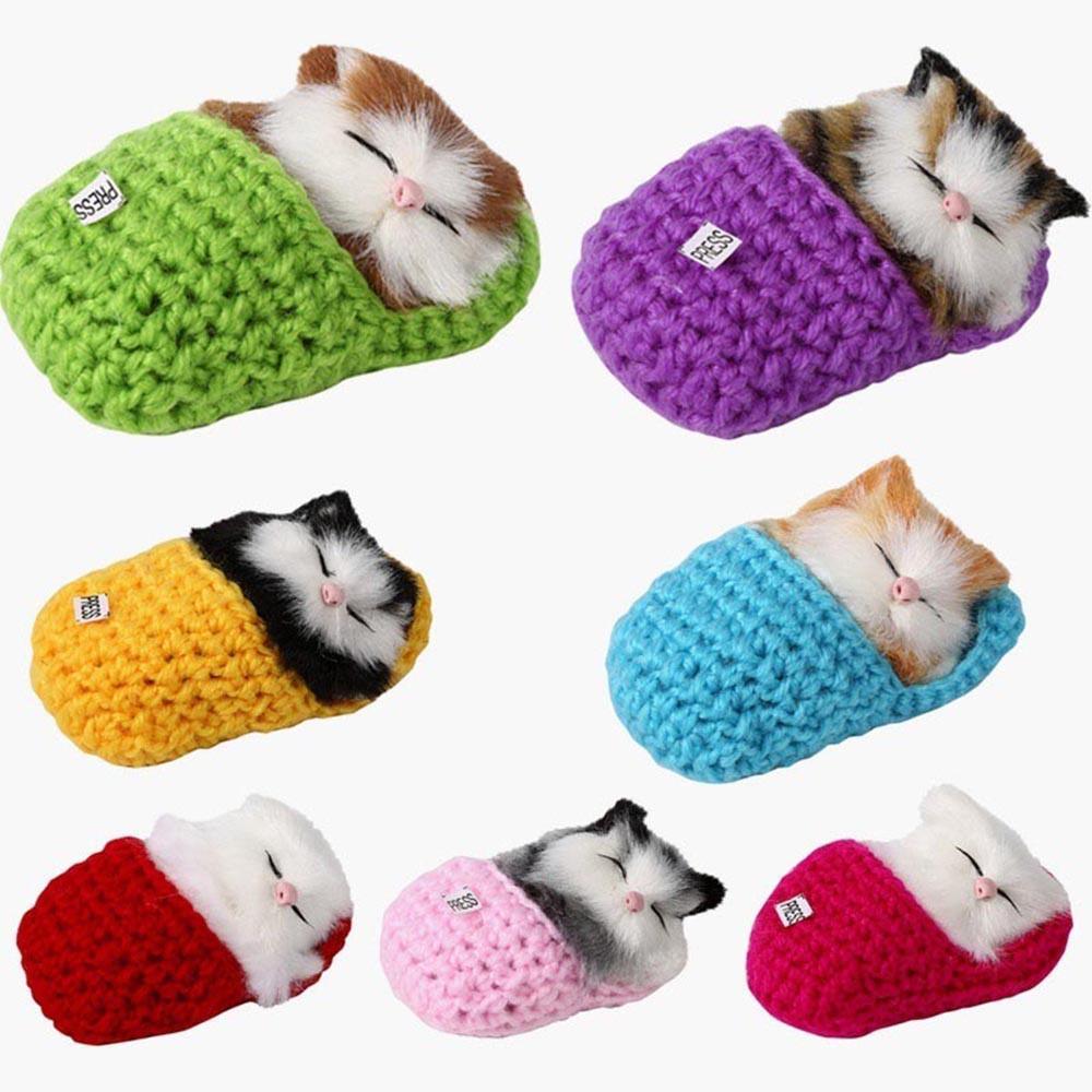 Boneka Plush Kucing Tidur dengan Suara
