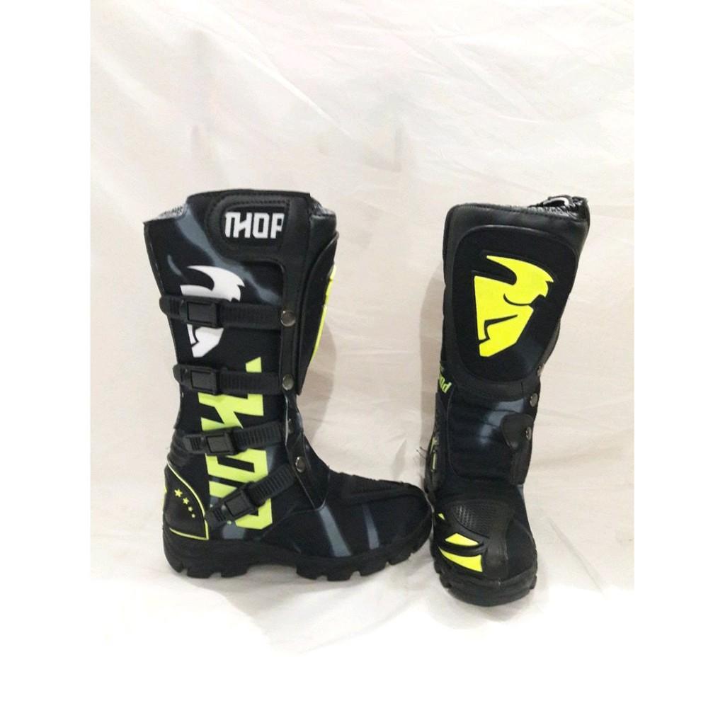 Sepatu cross trail cros offroad motocross putih kuning lokal murah bandung  not sidi snd gordon rcb  c2e30605da