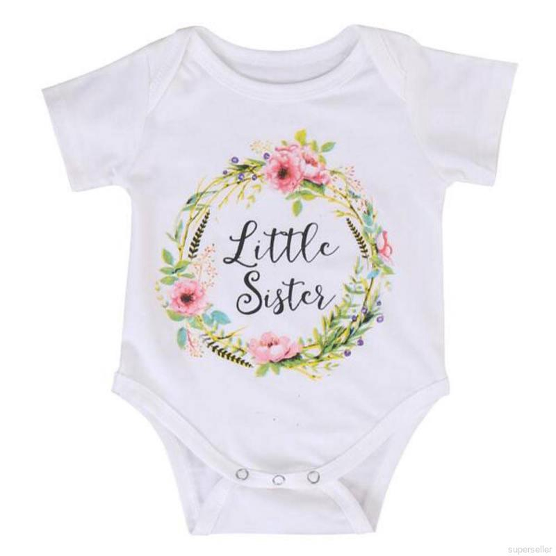 BOBORA Baby Girls Boys Cotton Sisters Brothers Matching Clothes Rompers with Shirts