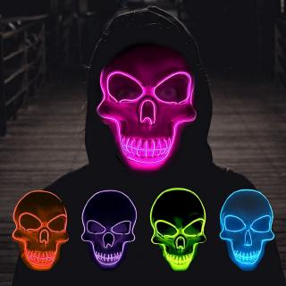 Cod Top Halloween Mask Led Light Up Party Mask The Purge Election Year Funny Masks Festival Cosplay Shopee Indonesia