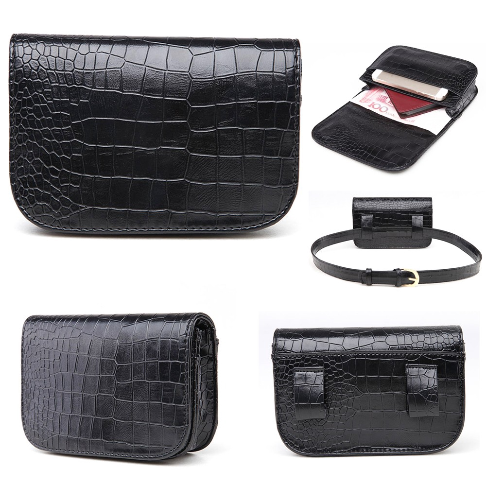 Waist Pack Travel Wallets Women Alligator Pu Leather Bag Fanny Bags Ladies Fit 55 Inches Phones Belts For Men Semi Kulit Hitam Belt 829 Tas Pinggang Bahan Asli Dengan Holder Handphone Untuk Shopee Indonesia