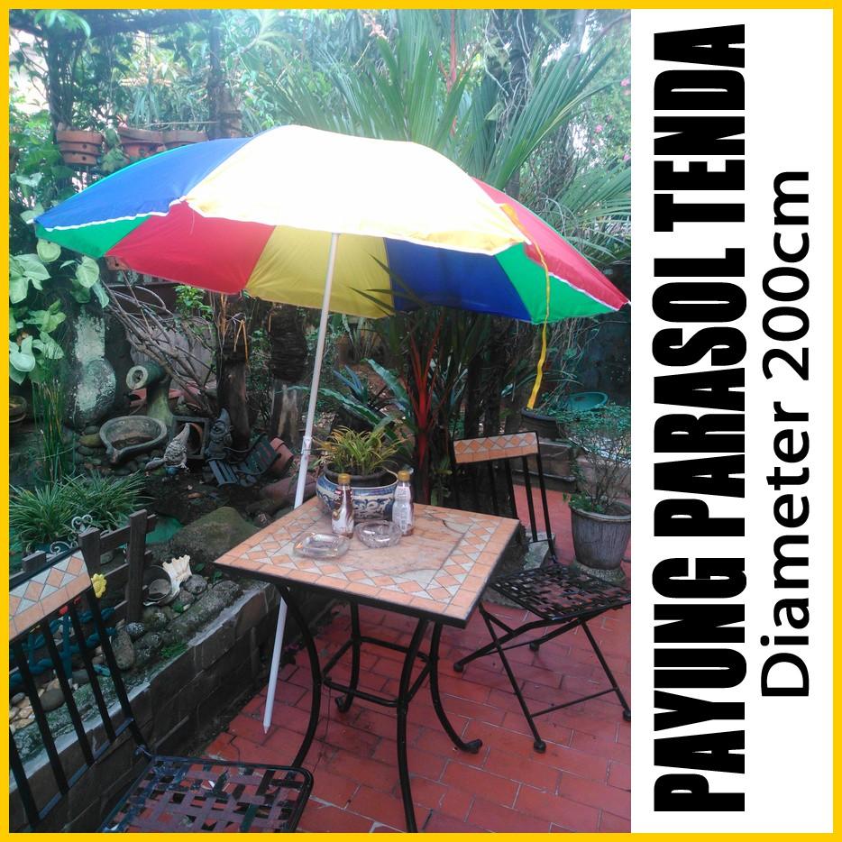 Payung Cafe Pantai Jualan Tenda Parasol 180cm Daftar Harga Pelangi Lapak An Dagang Kaki Lima Pkl Taman Stand Diameter 230cm 2lapis Bandung Bazar 260cm Dengan 2 Lapisan Shopee Indonesia