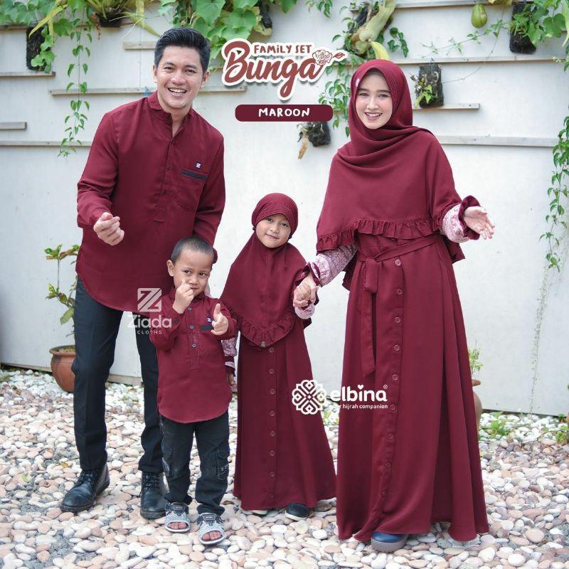 OPEN PO Bunga Family Set by Elbina Hijab