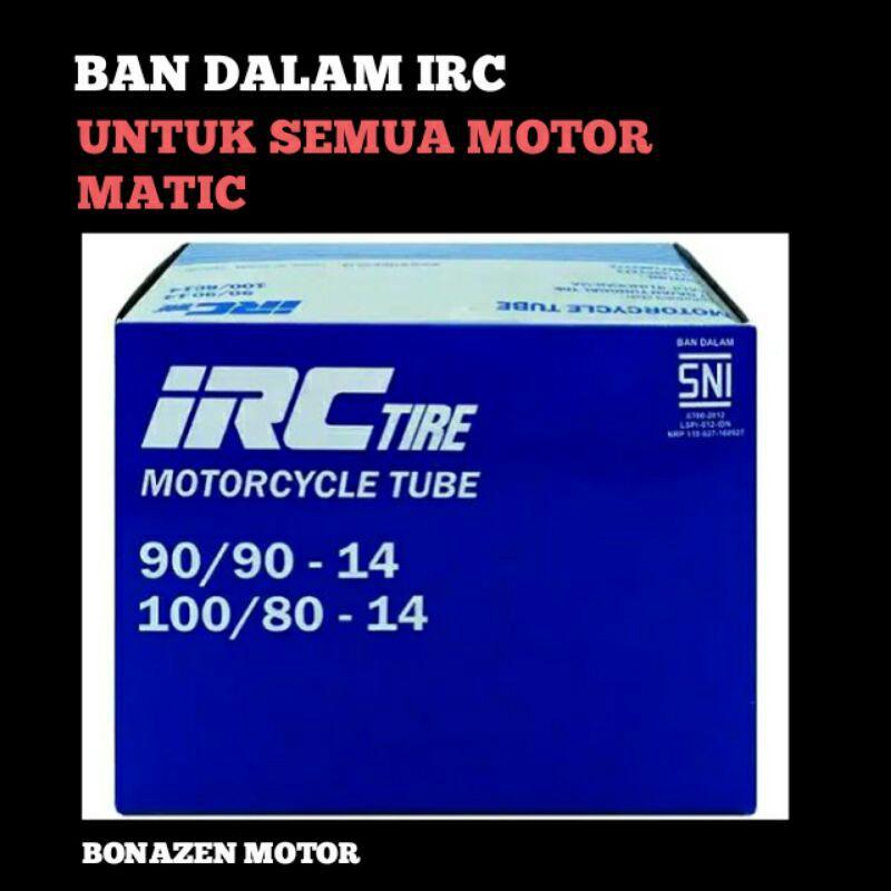 Ban Dalam IRC Ukuran 90/90-14 100/80 Ring 14 / Vario Beat Mio X-Ride m3 FI Esp 110 125 150 Scoopy