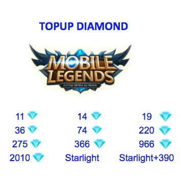 Topup Mobile Legend Diamond Twilight Seasonal Starlight Member