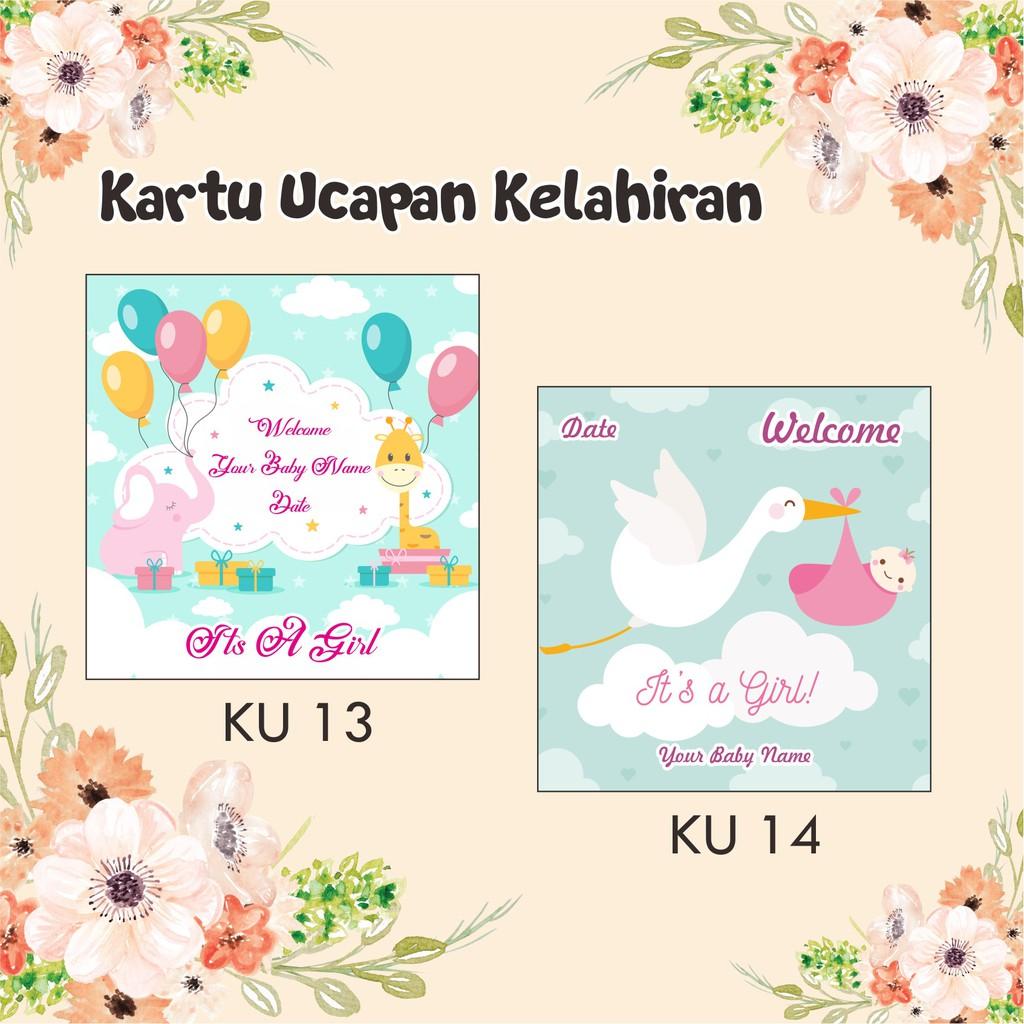 Kartu Ucapan Bayi 1 Bulan - contoh kartu ucapan