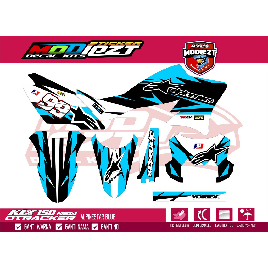 Sticker decal costum klx bf desain suka suka 68 shopee indonesia