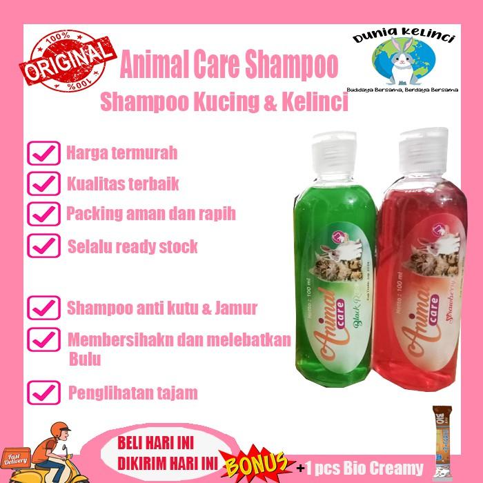 SHAMPOO  KELINCI KUCING ANIMAL CARE WANGI ANTI KUTU JAMUR  CONDITIONER-Animal Care shampoo