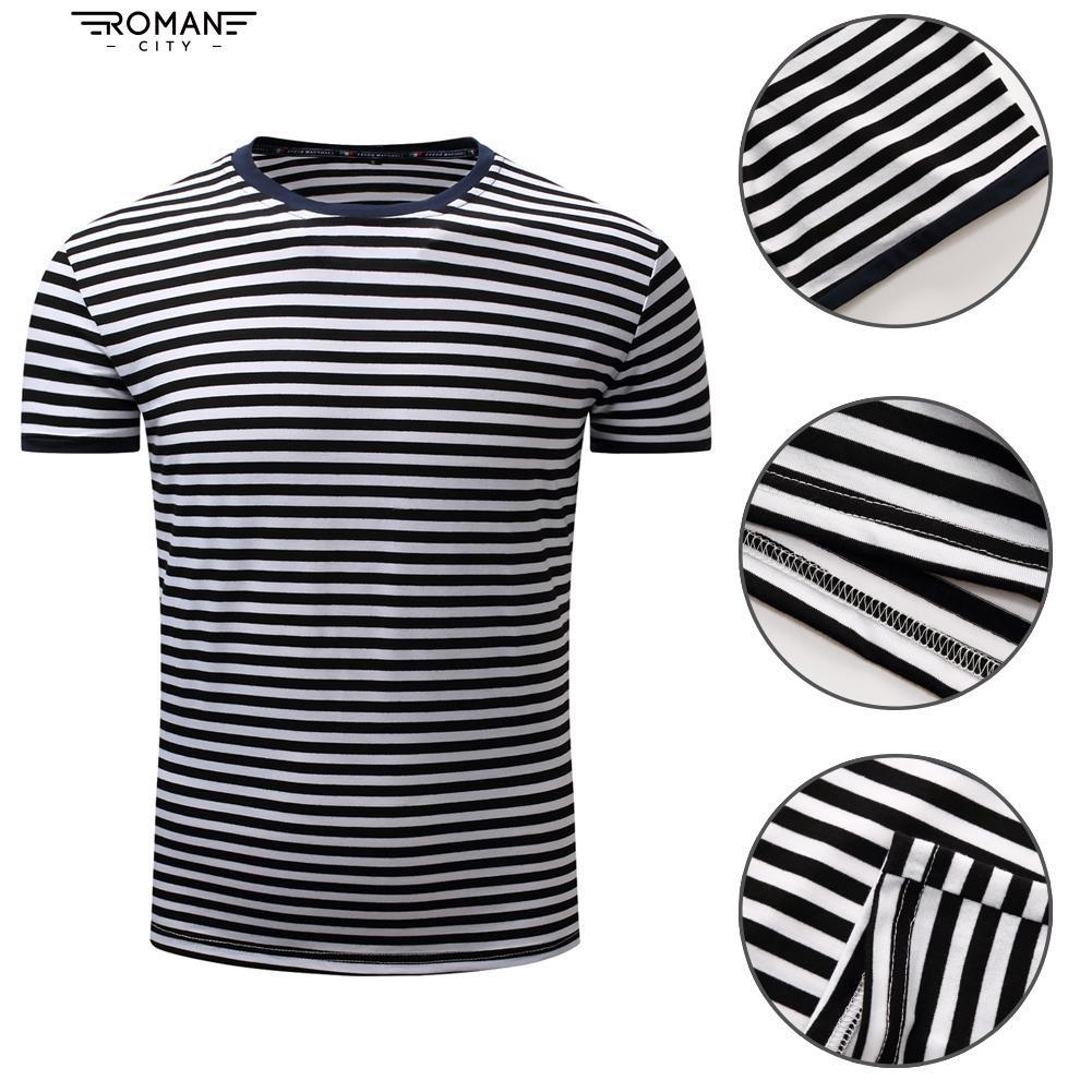 Blue Stripe T Shirt Shopee Indonesia Lgs  Regular Fit Tee Casual Biru L