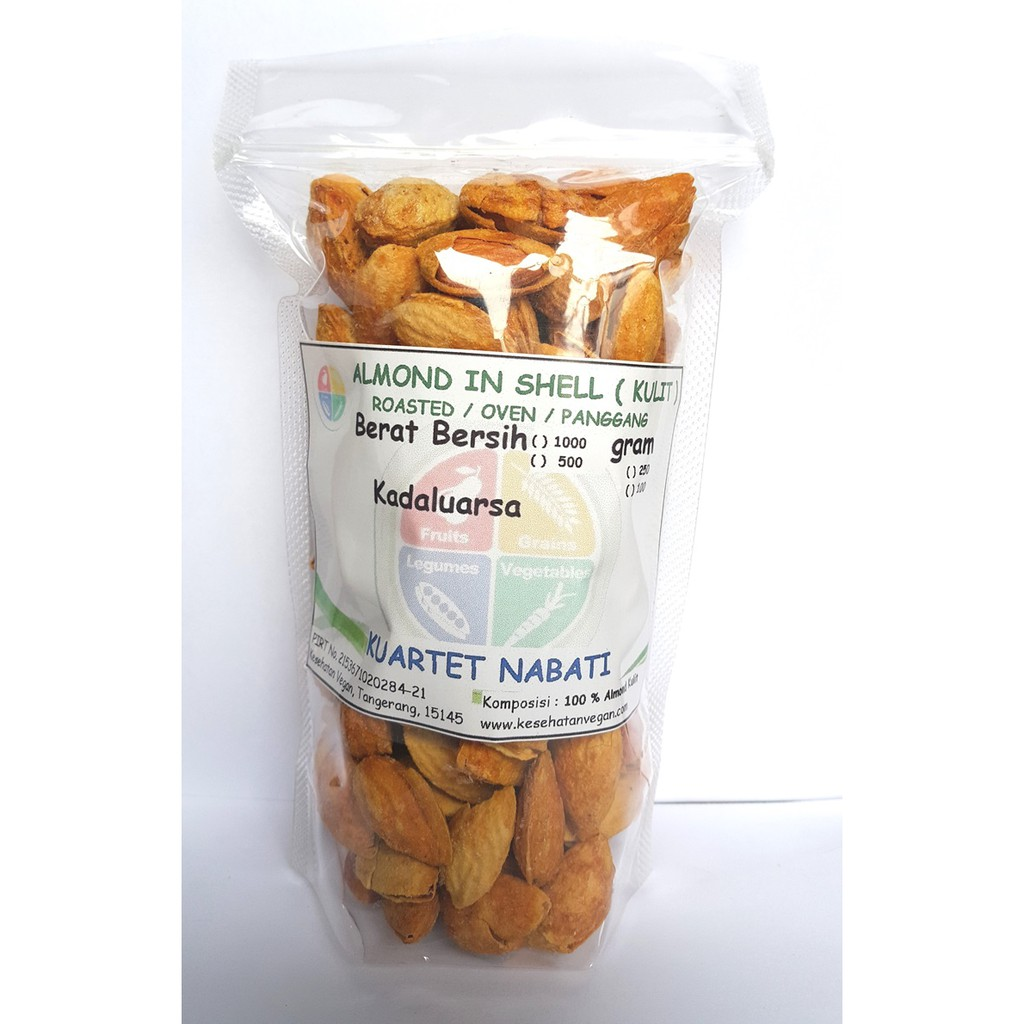 Roasted Almond Milk Butter 250gr Shopee Indonesia Slice Kacang Mentah Irisan