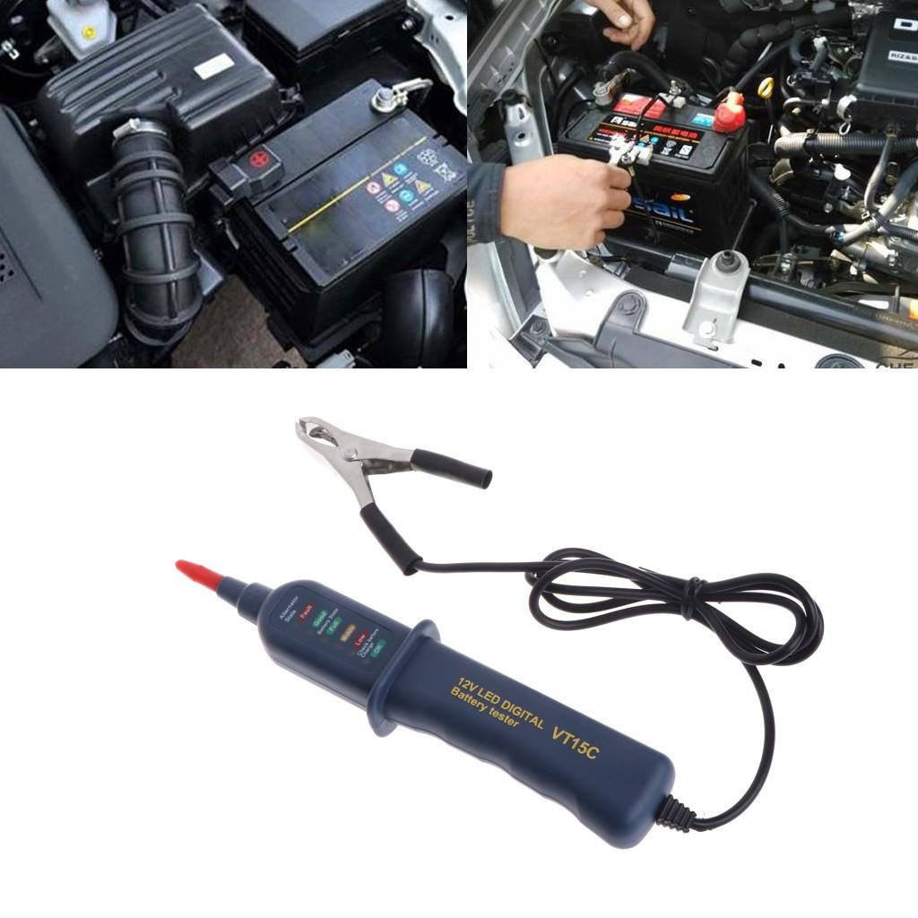 Tester Alternator Baterai Digital 12v Dengan 6 Led Untuk Mobil Car Charger Usb Voltmeter Dan Indikator Temperatur Motor Shopee Indonesia