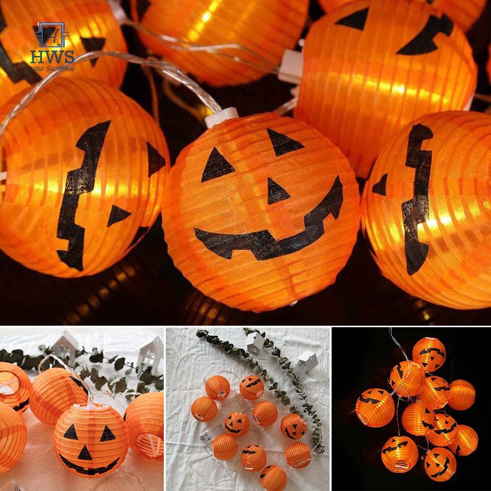 Halloween Diy Decoration Festival Lantern Pumpkin String Lights Halloween Ghost Inflatables Decor For Home Shopee Indonesia