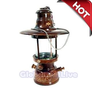 lampu hias petromak kayu jati t38 - (hiasan dekorasi rumah