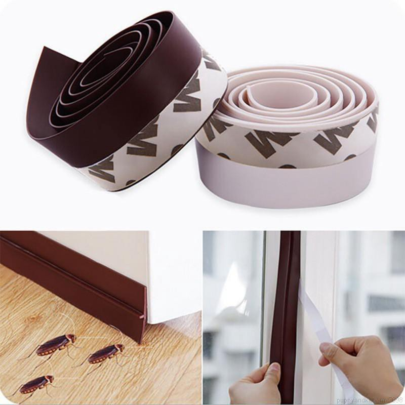 Self-Adhesive Weather Stripping Under Door Draft Stopper Window ...