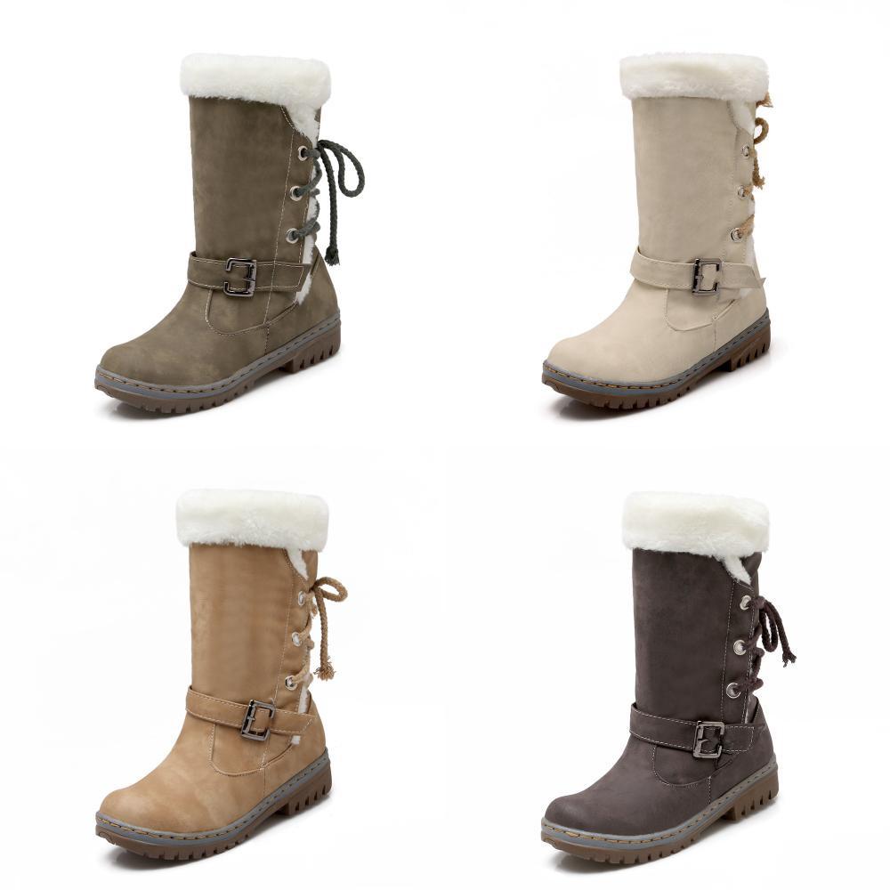 Women Shoes Heels Flat Snow Boots Warm Fur Classics  92e5efb690
