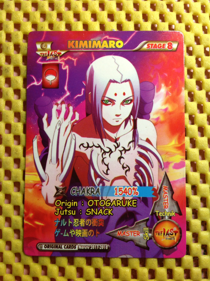 Jual naruto card ultimate ninja strom kimimaro girl legend kartu hobi