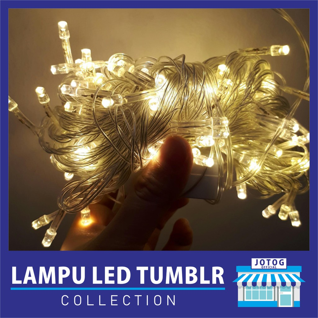 Lampu Tumblr Led Dekorasi Hias Natal Twinkle Light String Biru 10 Meter Shopee Indonesia