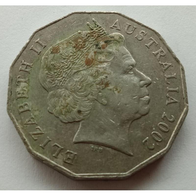 koin 50 Cents Australia tahun 2002 (407)