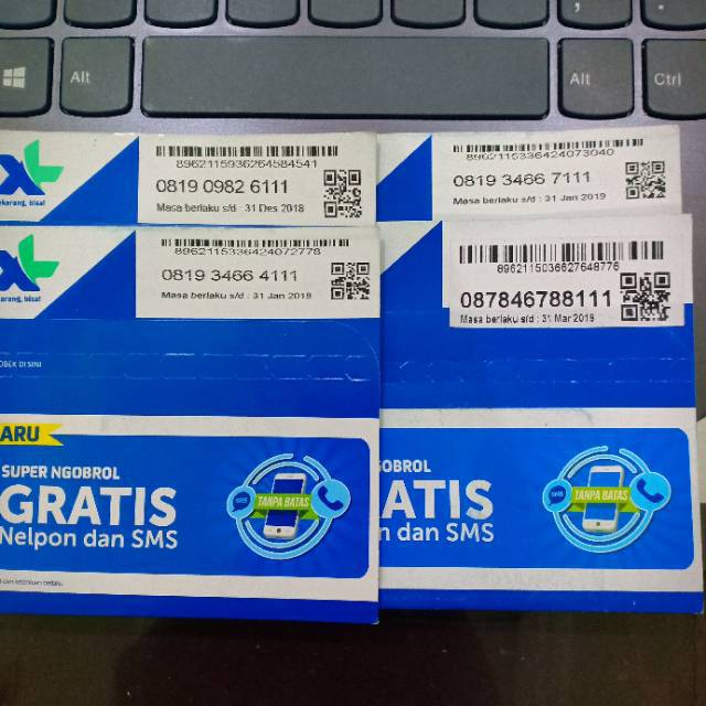 Nomor Cantik XL 11 Digit 4G LTE Bukan Simpati Indosat Axis Tri | Shopee Indonesia