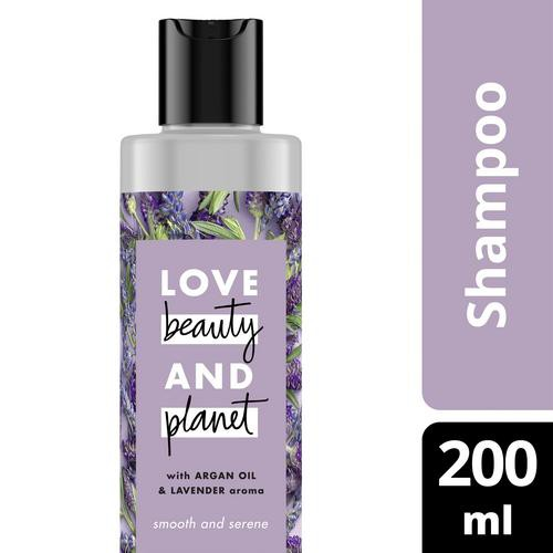Love Beauty And Planet Vegan Shampoo Argan Oil & Lavender for Frizzy & Calming Hair 200 ml