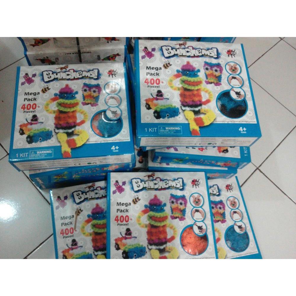 Bunchems Mainan Edukasi Kado Edukatif Mega Packs 400 Pieces Update Otoys Balok Pa 330196 Fun Character Blocks Kreatifitas Source Pack
