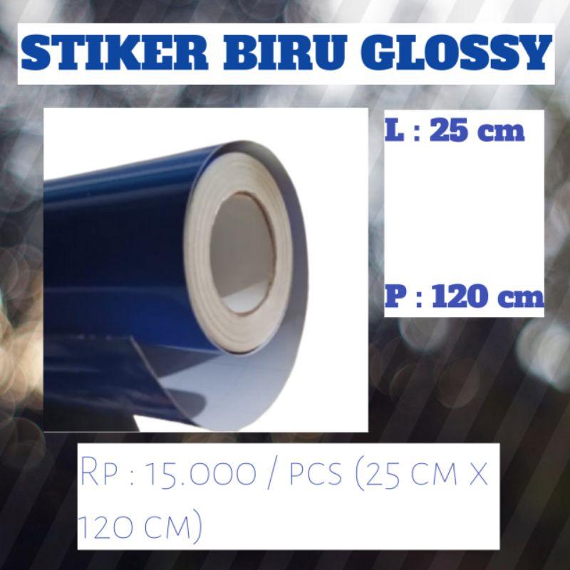 stiker biru glossy/skotlet/background aquarium