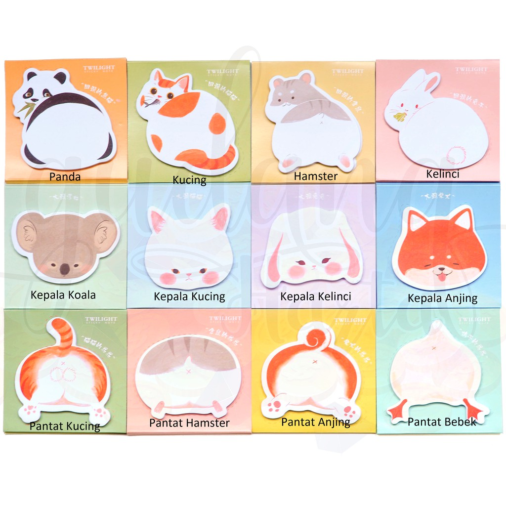 Sticky Notes Hewan Lucu Unik Memo Panda Kelinci Hamster Anjing Kucing Gh 301199 Shopee Indonesia