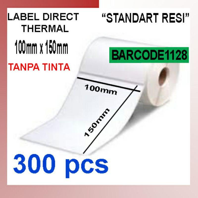 LabelBarcodeThermal100x150mm/StickerKertasThermal100x150mm(300pcs)