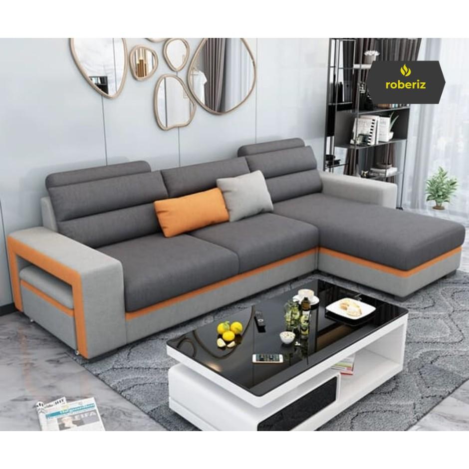 L09 Sofa Minimalis Modern Ruang Tamu Shopee Indonesia