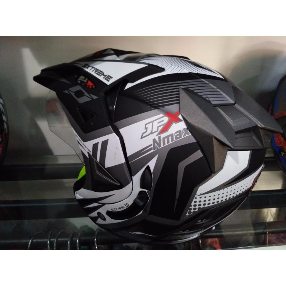 Helm Semicross Semitrail Supermoto Touring Cross Mds Super Moto Motif Trail Sni Ktm Klx Yz Shopee Indonesia