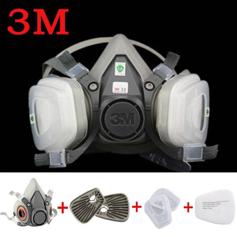 Ukuran Setengah Medium 6200 3m Wajah Masker Gas