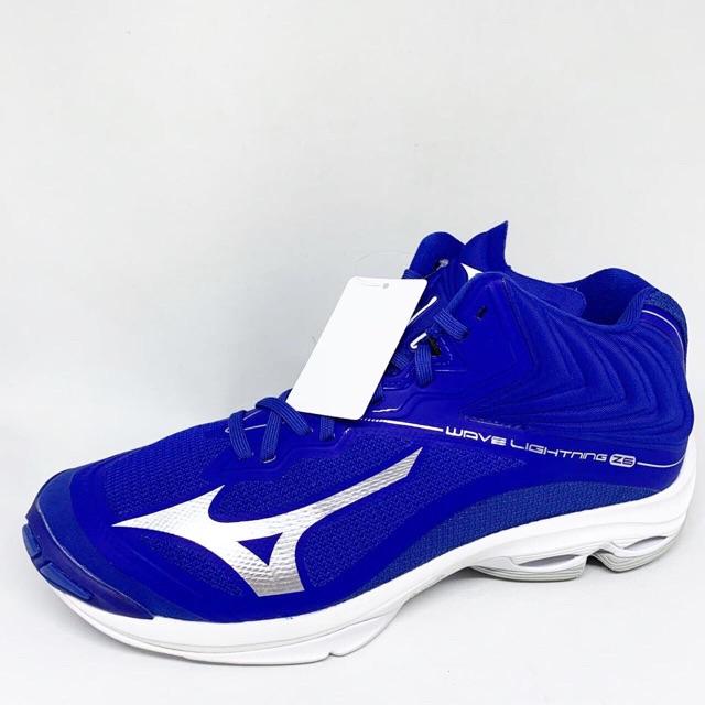 Kicosport Sepatu Voli Mizuno Wave Lightning Z6 Mid True Blue White