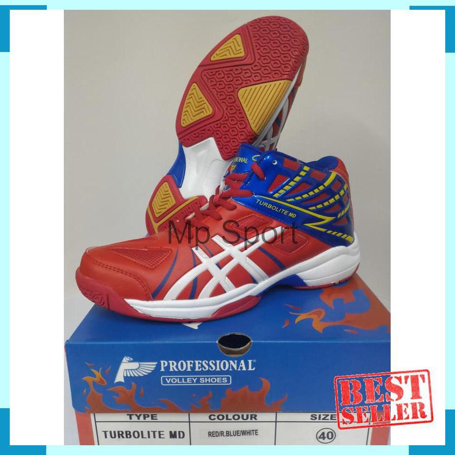 Termurah Sepatu Volley Professional Turbolite Md Blue Black Original 100%  New Olahraga - Olahraga  dde18f33f3