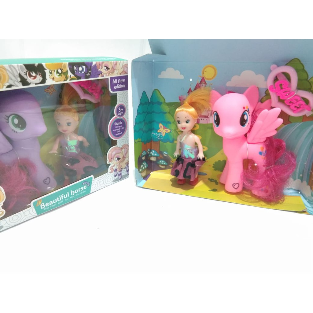 Mainan Figur Kuda Pony Figure My Little Pony New Edition S7 B1