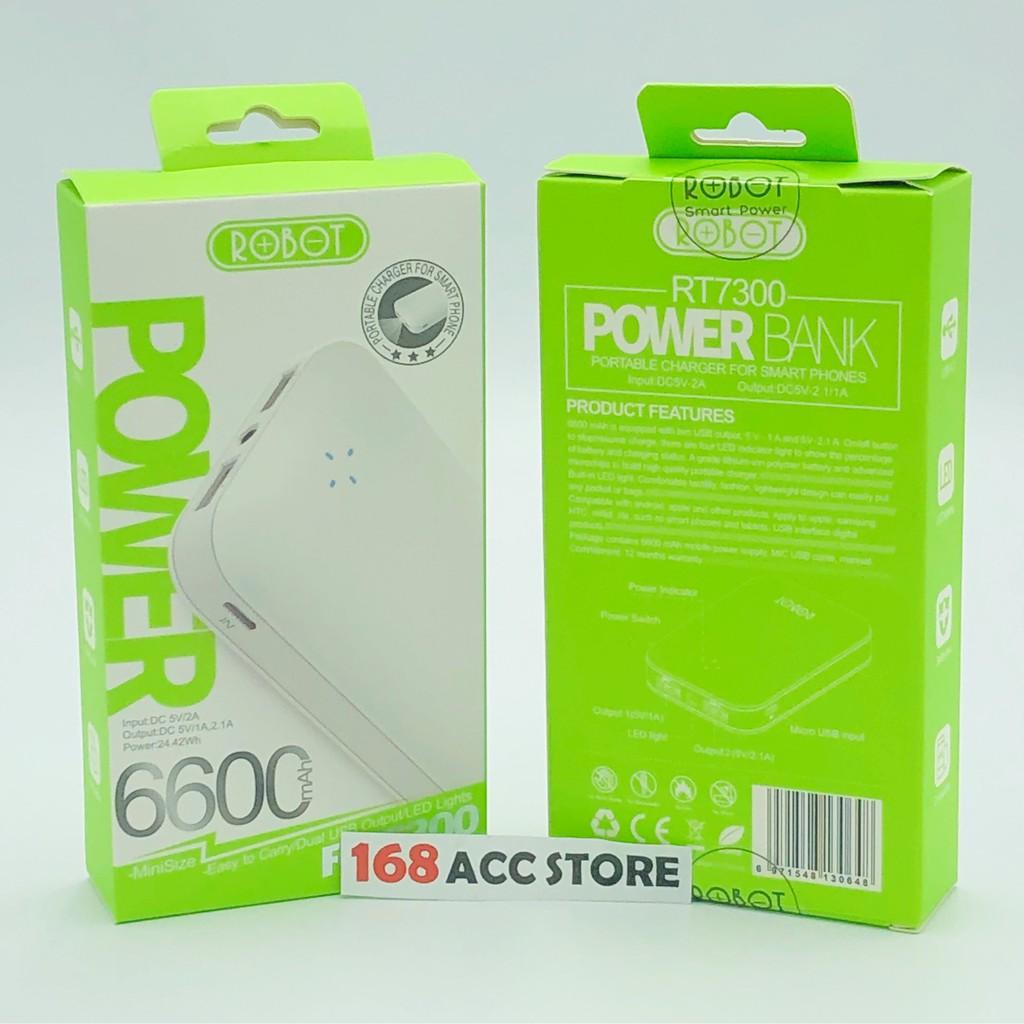 POWER BANK ROBOT 6600 MAH / POWER BANK ROBOT RT7300 ORIGINAL